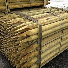 Suregreen 20 Pack Fencing Stake 1 2m X 50mm Dia Fence Post 4ft Treated Rounded For Sale Ebay