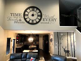 Time Spent With Family Large Wall Decal Worth Every Second Etsy Large Wall Decals Large Wall Decor Living Room Large Wall Clock Decor