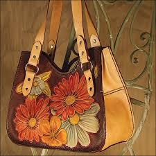 tooled leather purse leather