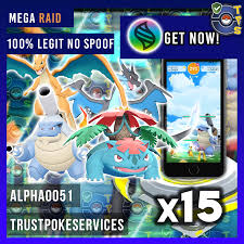Pokemon GO Mega Charizard Blastoise Venusaur Raid Boss x15 (GUARANTEED  CAPTURE) - Trust Poke Services