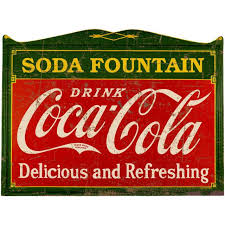 Drink Coca Cola Deco 1920s Style Wall Decal Distressed Choose Wording Option At Retro Planet