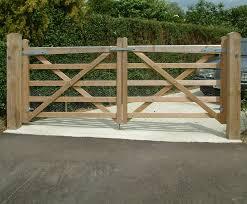 Timber Driveway Gates Avs Fencing Esi External Works