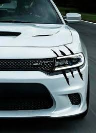 Universal Headlight Claw Scratch Mark Tear Vinyl Decal For Challenger Charger Ebay