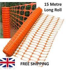 Orange Plastic Barrier Fencing Safety Event Mesh Netting Garden Fence Ebay