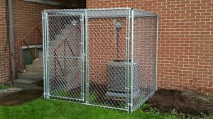 Awesome Ac Cage Built From Chain Link Kennel Panels Individual Modular Kennel Panel Pricing Hoover Fence In Dog Kennel Dog Kennel Outdoor Dog Fence Dog Kennel