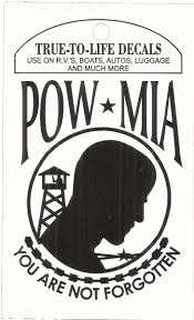 0450 7476 Pow Mia You Are Not Forgotten Sticker