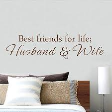 Mairgwall Best Friends For Life Husband And Wife Wall Quote Saying Removable Vinyl Lettering Decal Sticker Black X Large Wantitall