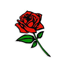 Bargain Max Decals Red Rose Sticker Buy Online In Papua New Guinea At Desertcart