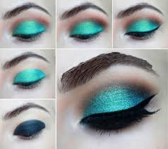 eye makeup step by step for green eyes