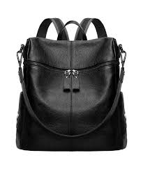 s zone women genuine leather backpack