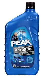 5w 30 synthetic blend motor oil peak auto