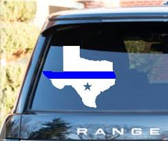 Thin Blue Line Hood Or Window Decal Any State Thin Red Line Etsy