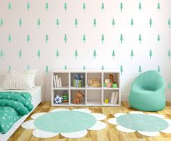 Pine Tree Wall Pattern Decals Forrest Design Wall Decal Etsy