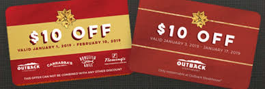 outback steakhouse 20 bonus with 50