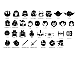 Star Wars Icons Personalized Vinyl Wall Decal Available Sizes Approximate 2 Feet Wide 3 Feet Wide 4 Feet Star Wars Icons Star Wars Symbols Star Wars Tattoo