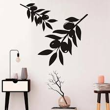 Olive Branch Tree Wall Stickers For Living Room Vinyl Wall Art Decals Wallpaper Posters For Kitchen Wall Decor Home Decorations Tree Wall Sticker Wall Stickerstickers For Aliexpress