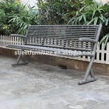 outdoor metal garden bench seating
