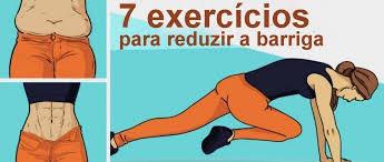 Resultado de imagem para foto de 7 exercícios para reduzir á barriga