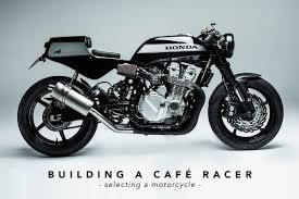 building a cafe racer choosing a