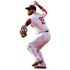 Dustin Pedroia Boston Red Sox Fathead Throwing Life Size Removable Wall Decal