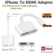 Đối Với Iphone XS 5S 6 7 8 X Plus IOS HD 1080P TV Chuyển Đổi Dây Cáp Kỹ  Thuật Số AV Light-Ning Sang HDMI Cáp