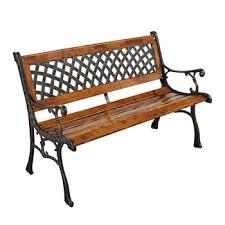 outdoor cast iron garden bench with