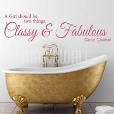 Wall Decals Classy Fabulous Girl Wall Quotes Wall Stickers
