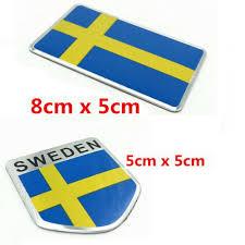 Car Truck Graphics Decals Auto Parts And Vehicles New Auto Emblem Badge Sweden Flag Bumper Decoration 3d Aluminum Car Sticker Megeriancarpet Am