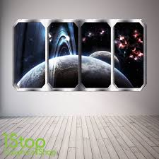 Space Wall Stickers Space Themed Bedroom Window Wall Spaceship