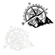 Universal Compass Vinyl Sticker Decal Off Road Car Hood Side Body White Black Buy At The Price Of 3 43 In Aliexpress Com Imall Com