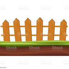 Cartoon Rural Wooden Fence In Green Grass Vector Illustration Wood Farm Fence Outdoor Stock Illustration Download Image Now Istock