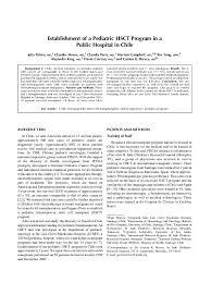 PDF) Establishment of a pediatric HSCT program in a public ...