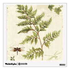Fern Leaf Wall Decals Stickers Zazzle