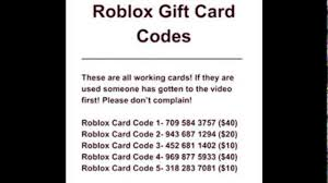 free roblox gift card codes you