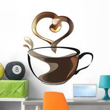 Tea Coffee Lover Cup Wall Decal Wallmonkeys Com