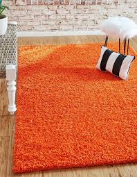 Tiger Orange 5 X 8 Solid Shag Rug Area Rugs Esalerugs Shag Rug Rugs Bedroom Area Rug
