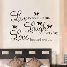 Wall Quote Vinyl Decal Live Every Moment Laugh Every Day Love Beyond Words Diy Wall Sticker Home Decor Decoration For Bedrooms Stickers Home Decor Wall Stickers Home Decordecoration For Bedroom Aliexpress