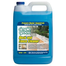 Simple Green 128 Oz Deck And Fence Cleaner Pressure Washer Concentrate 2300000118200 The Home Depot