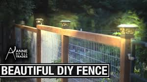 Easy Beautiful Diy Fence Youtube