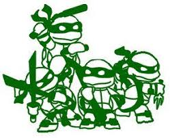 Teenage Mutant Ninja Turtles 14 Green Car Truck Vinyl Decal Art Wall Sticker Usa Vinyl Creations Custo Cartoon Silhouette Turtle Coloring Pages Turtle Outline