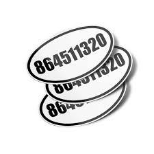 864511320 Oval Vinyl Bumper Sticker Decals 3 Pack 8645