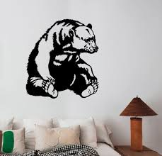 Bear Decal Removable Wall Sticker Home Decor Art Mural Grizzly Wild Animals