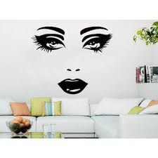 Shop Makeup Wall Decal Vinyl Sticker Decals Home Decor Mural Make Up Girl Eyes Sticker Decal Size 22x26 Color Black Overstock 14046045
