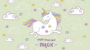 wallpapers puter cute unicorn 2020
