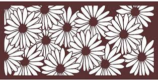 Eco Panel Laser Cut Decorative Steel Privacy Panel Metal Fencing 48x24 Inch Piece Sunflower4 X2 1pcrust Amazon Co Uk Garden Outdoors