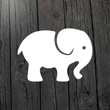 Baby Elephant Decal Elephant Sticker Car Window Wall Art Computer Or Laptop Lots Of Colors Elephant Decal Elephant Stickers Elephant Car