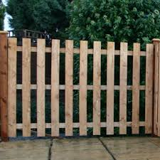 Adley 3 X 6 Pressure Treated Palisade Flat Top Fence Panel Cheap Garden Furniture Garden Furniture Sale Fence Panels