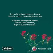 rose day quotes in hindi thorns for attitude petal nojoto