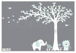 Blowing Tree Elephant Decal Nursery Wall Decal Decorist