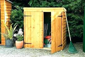 wooden outdoor storage sheds